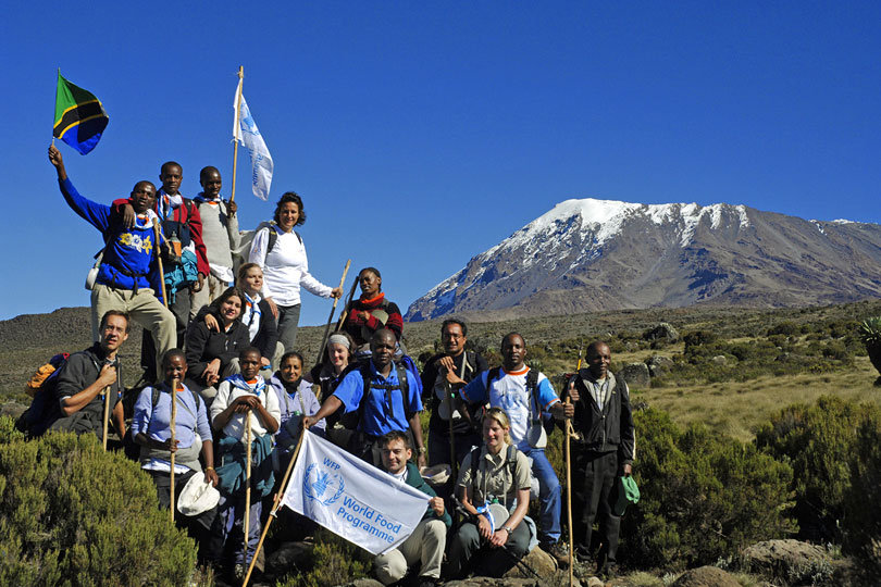 World Food Programme (WPF) global charity program Walk the World,<p> Kilimanjaro, Tanzania