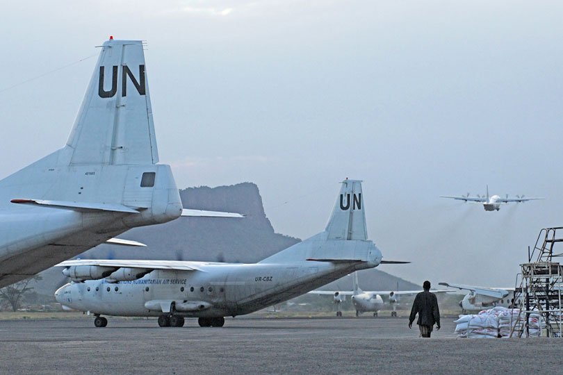 Operation Lifeline Sudan, United Nations for southern Sudan,<p> Lokichoggio, Kenya