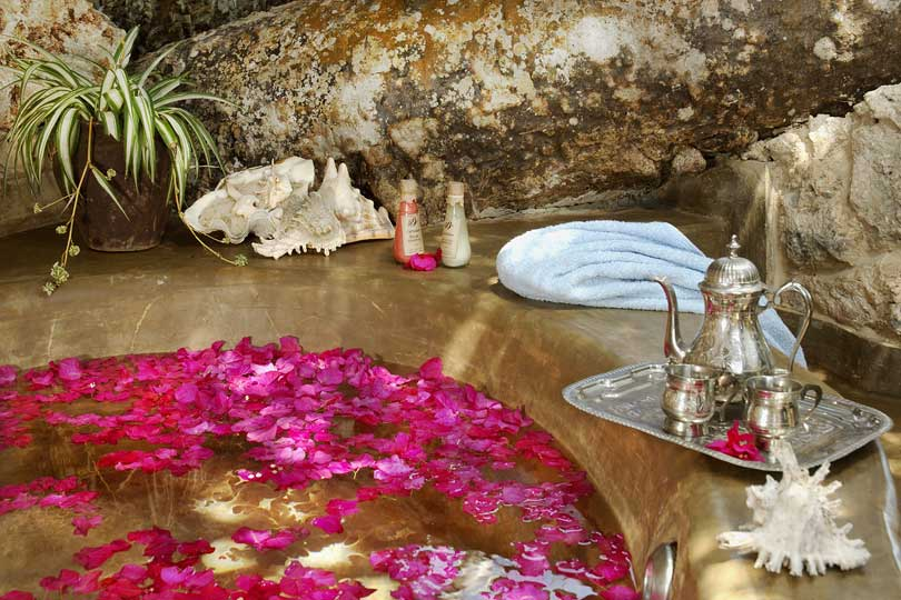 Bath in a spa on the south coast of Zanzibar, Tanzania
